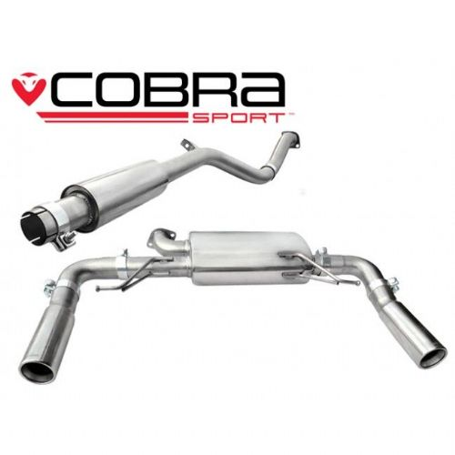 Cobra Sport Renault Clio 197 Cat Back Exhaust (Resonated) RN04